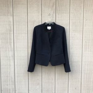 LOFT blue & black tweed business casual blazer